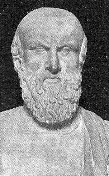 Picture of Aeschylus. Bust of Aeschylus