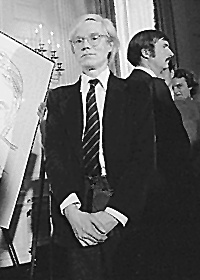 Picture of Andy Warhol. Andrew Warhol at the inauguration of President Carter 1977