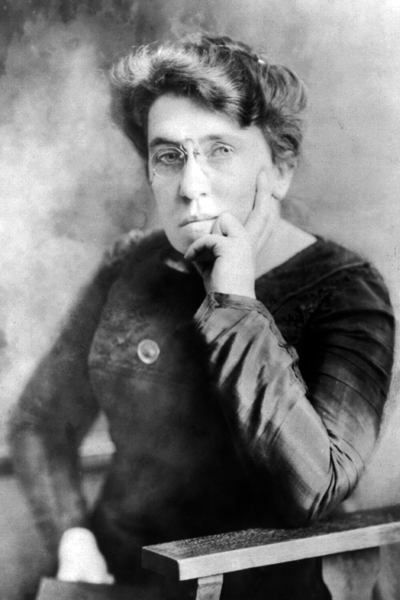 Picture of Emma Goldman. This work is in the public domain in the United States because it was published (or registered with the U.S. Copyright Office) before January 1, 1923.