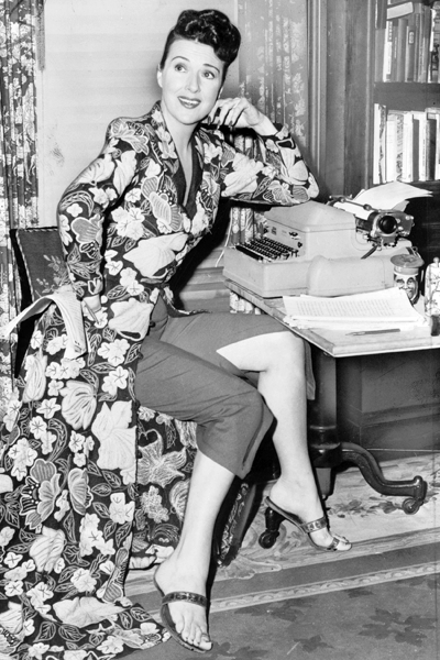 Picture of Gypsy Rose Lee. Gypsy Rose Lee, full-length portrait, seated at typewriter, facing slightly right / World Telegram & Sun photo by Fred Palumbo.	1956. Library of Congress Prints and Photographs Division. New York World-Telegram and the Sun Newspaper Photograph Collection. http://hdl.loc.gov/loc.pnp/cph.3c12035