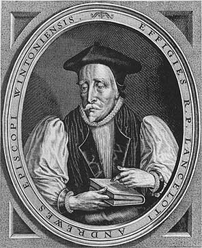 Picture of Lancelot Andrewes. Engraved portrait from the frontispiece to a 17th century volume of sermons