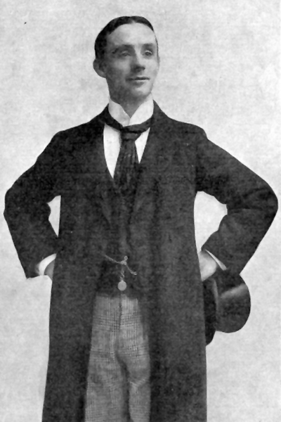 Picture of Dan Leno. Public domain - copyrights expired