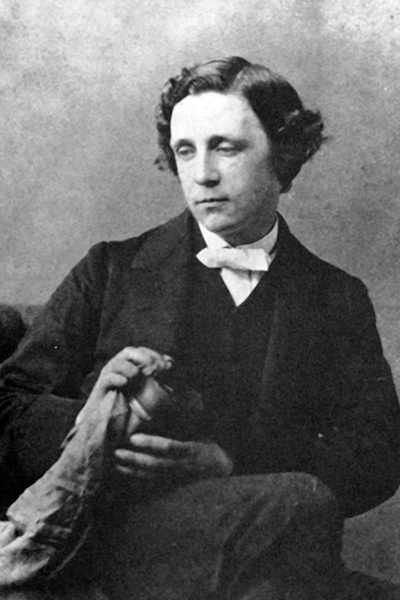 Picture of Lewis Carroll. Lewis Carroll in 1863, photographed by Oscar Gustav Rejlander (1813-1875).