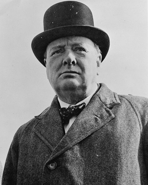 Picture of Winston Churchill. Sir Winston Churchill in 1942.