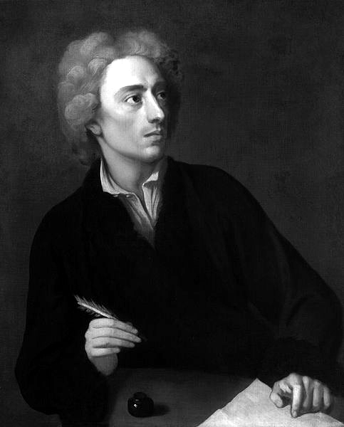 Picture of Alexander Pope. Alexander Pope. Painting by Michael Dahl (died 1743)