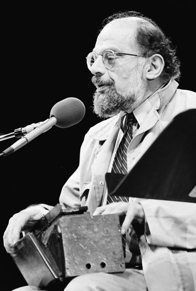 Picture of Allen Ginsberg.