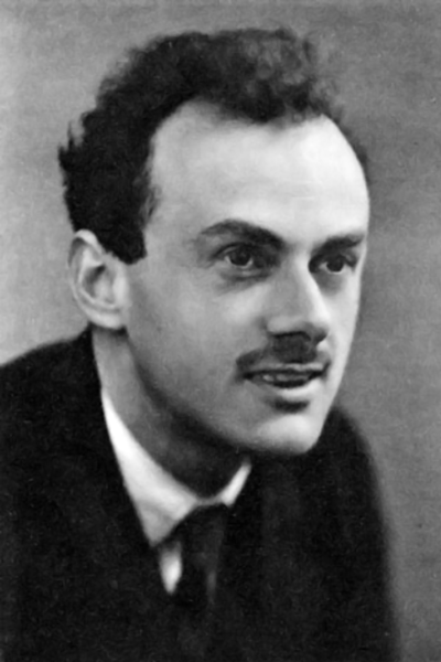 Picture of Paul Dirac. This image is in the public domain in countries and areas where the copyright term for anonymous or pseudonymous works is 70 years from the year of first publication or less, for example in the European Union.
