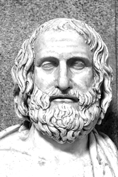 Picture of Euripides.
