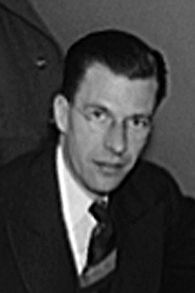 Picture of John Kenneth Galbraith. John Kenneth Galbraith by Royden Dixon for the United States Office of War Information, 1940-1946 (exact date unknown)