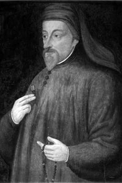 Picture of Geoffrey Chaucer.