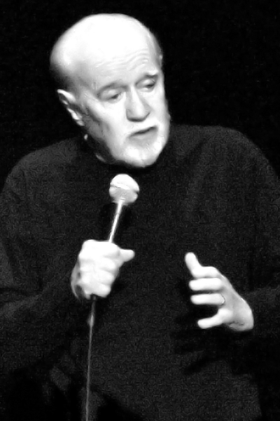 Picture of George Carlin. George Carlin in Trenton, New Jersey, on April 4th 2008