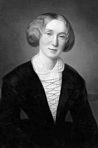 Picture of George Eliot. George Eliot, aged 30, by the Swiss artist Alexandre-Louis-François d'Albert-Durade (1804-86), whose family she lived with while in Switzerland.