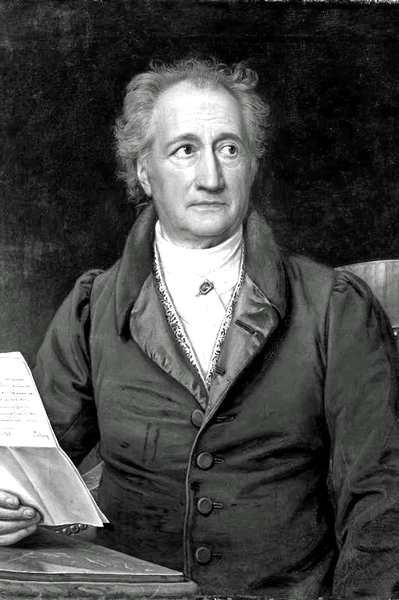 Picture of Johann Wolfgang von Goethe. This work is in the public domain in the United States, and those countries with a copyright term of life of the author plus 100 years or fewer.