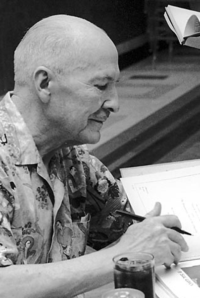 Picture of Robert A. Heinlein.