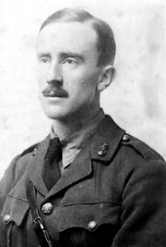 Picture of J.R.R. Tolkien. This photograph was published in the UK in 1977 in J. R. R. Tolkien - a biography, by Humphrey Carpenter. No credit given.