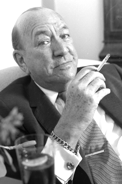 Picture of Noël Coward. Portrait for Noël Coward's last Christmas Card by Allan Warren, 1972