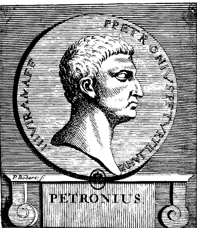 Picture of Petronius. This work is in the public domain in the United States, and those countries with a copyright term of life of the author plus 100 years or less.