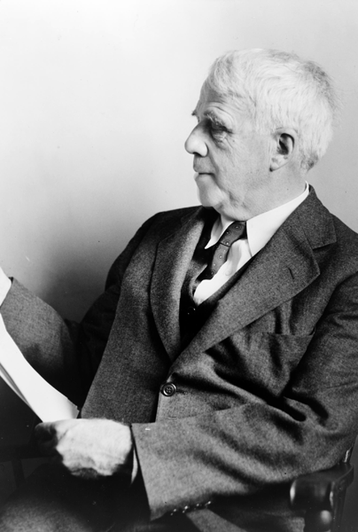 Picture of Robert Frost. This photograph is a work for hire created prior to 1968 by a staff photographer at New York World-Telegram & Sun. It is part of a collection donated to the Library of Congress. Per the deed of gift, New York World-Telegram & Sun dedicated to the public all rights it held for the photographs in this collection upon its donation to the Library.